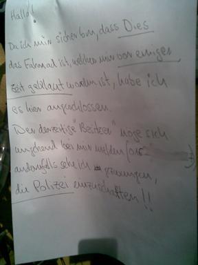 Fahrradklau_Text